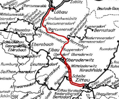 Streckenkarte_Löbau-Zittau